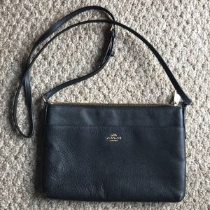 Small Coach cross body thin purse
